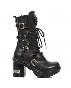 Black leather boot New Rock M.NEOTYRE05-S1