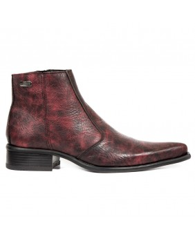 Red leather boots New Rock M.2260-C6
