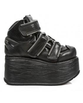Chaussure montante noire en cuir M.EP286-C1