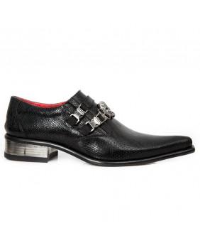 Zapatos negra en cuero New Rock M.2290-C7