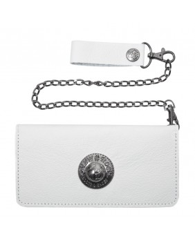 Porte-monnaie en cuir blanc M.WALLET012-C2