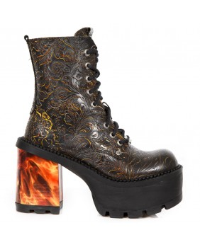 Bottine multicolore en cuir New Rock M.SEVE22-C2