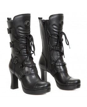 dce0ca89c9 Black leather boot New Rock M.GOTH5815-S2