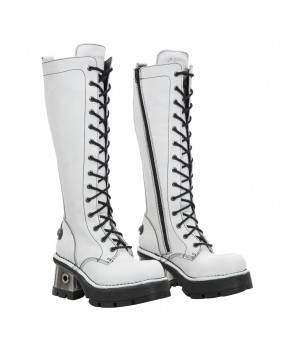 White leather boot New Rock M.236-C7
