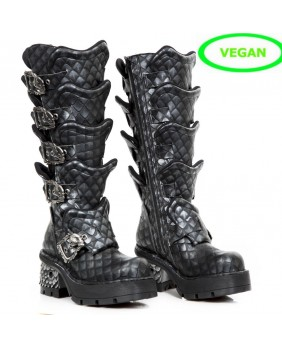 Botte acier en cuir Vegan New Rock M.741-V1