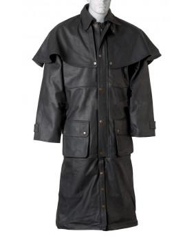 Manteau Australien cuir buffle noir