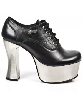 Chaussure noire en cuir New Rock M-DK004-C11
