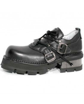 Black leather shoes New Rock M.994-C1
