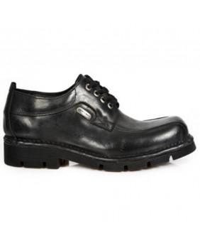 Chaussure noire en cuir New Rock M.1453-C1