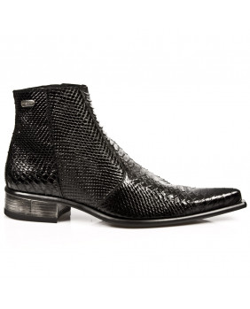 Black leather boots New Rock M.2260-R10