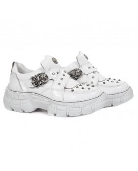Sneakers bianca in pelle New Rock M-CRASH005-C1