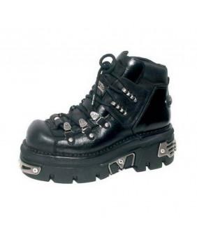 Chaussure montante noire en cuir New Rock M-220-C2