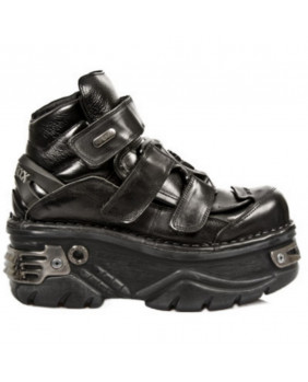 Chaussure montante noire en cuir New Rock M-285-C3