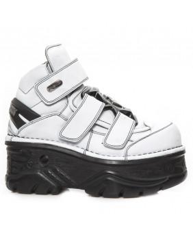 Chaussure blanche en cuir New Rock M-285-C28