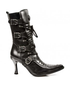 Black leather boot New Rock M-9375-C1