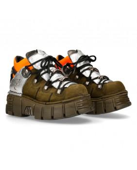 Chaussure compensée multicolore en cuir New Rock M-106NB-C4