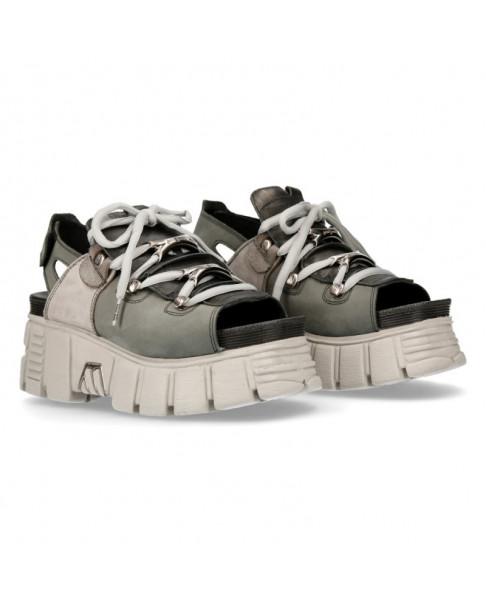 Sandale grise en cuir New Rock M BIOS103 C8