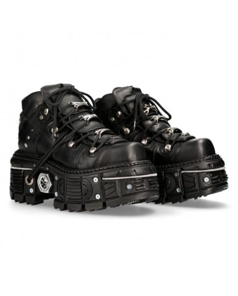 New Rock M-tank106-c1 Unisex White Leather Platform Shoes