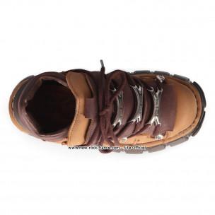 Marron 106 S44 Montante Nubuck Chaussure Rock M Metallic New En qSzVpMU