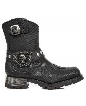Boots noire en cuir M.MR041-S5